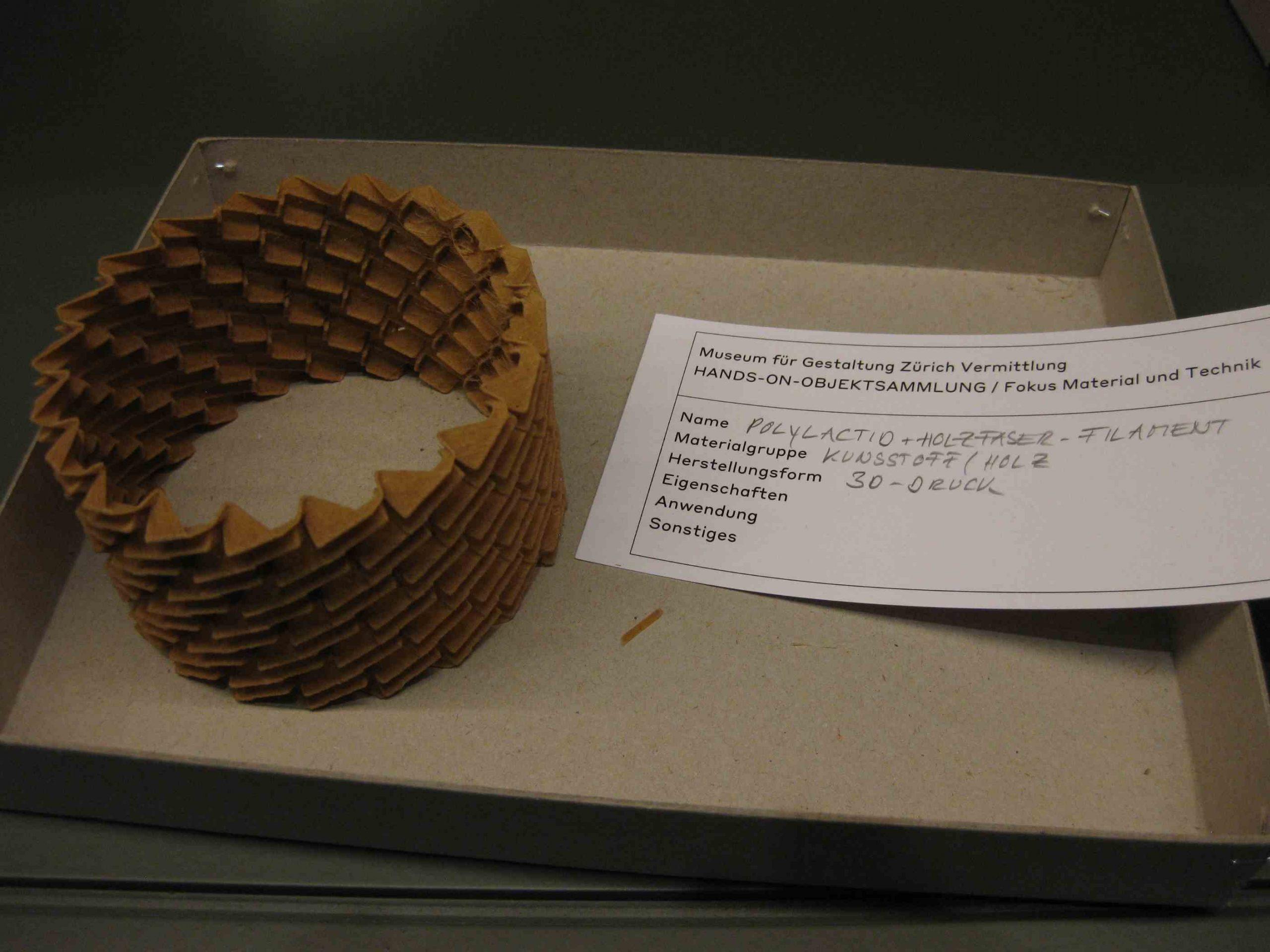 Zürich Museum für Gestaltung Bioplastik