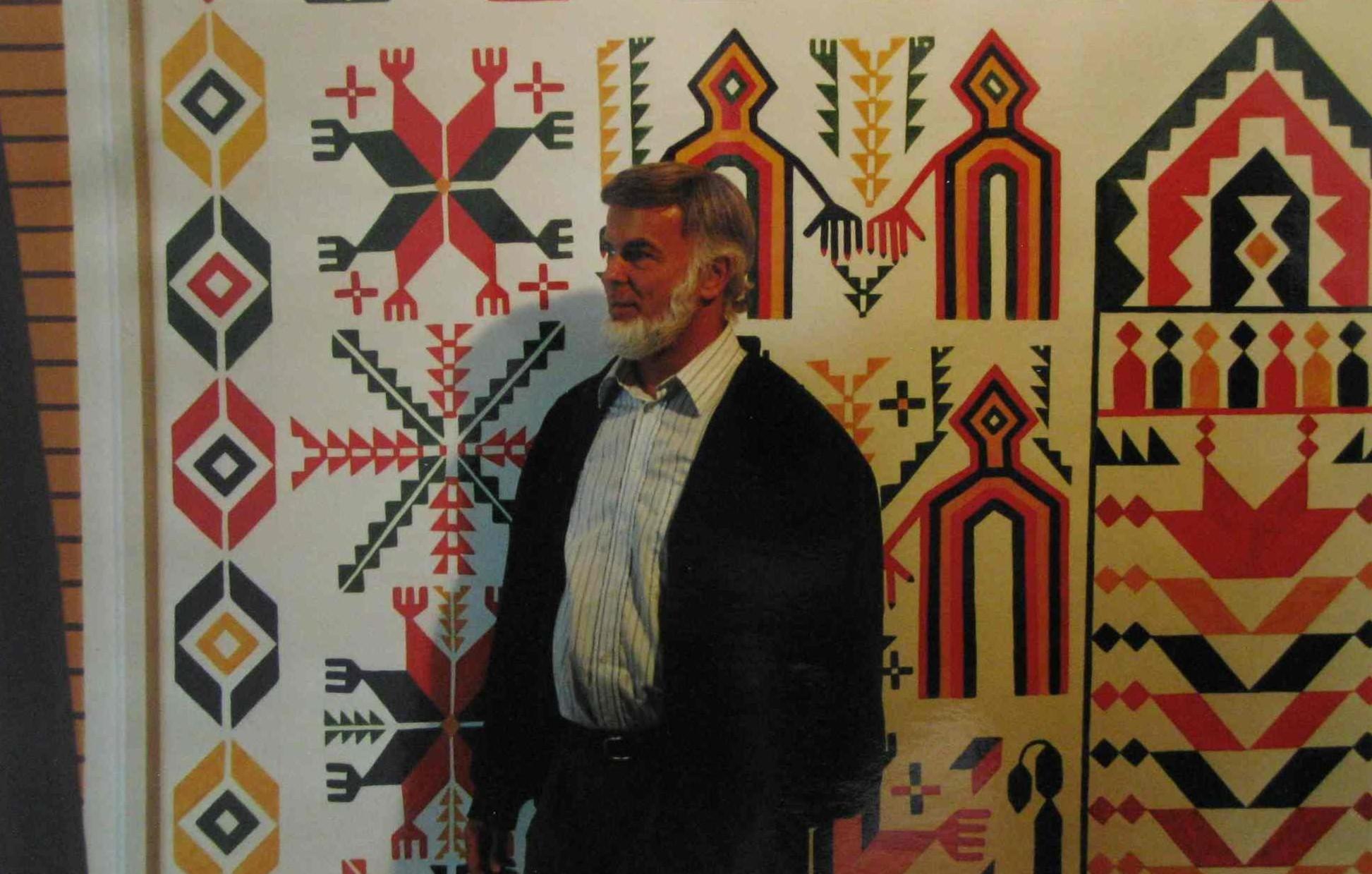 Paul Bucherer in the Afghanistan museum in Bubendorf, Switzerland