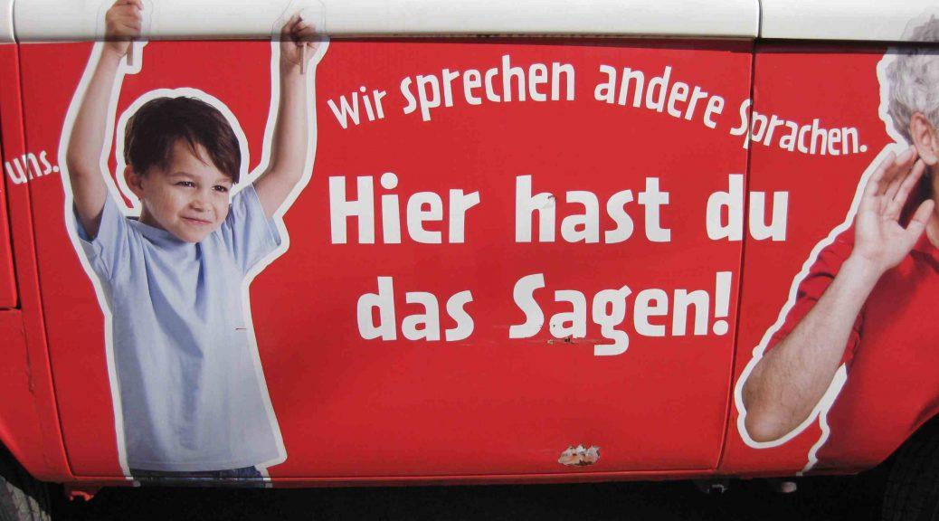 """Werbung für das """"Wortreich"""" in Bad Hersfeld"""