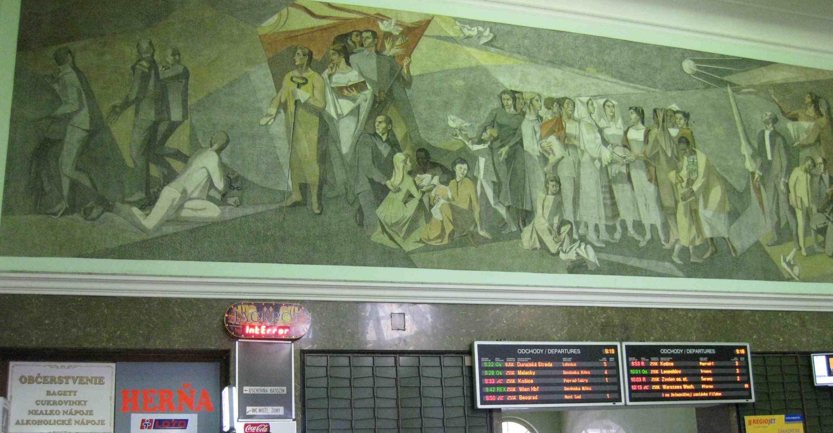Mural in Bratislava's station