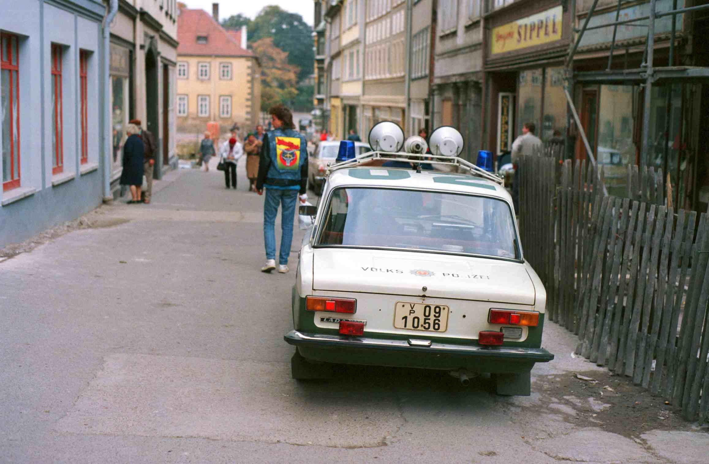 Police car in Erfurt, GDR
