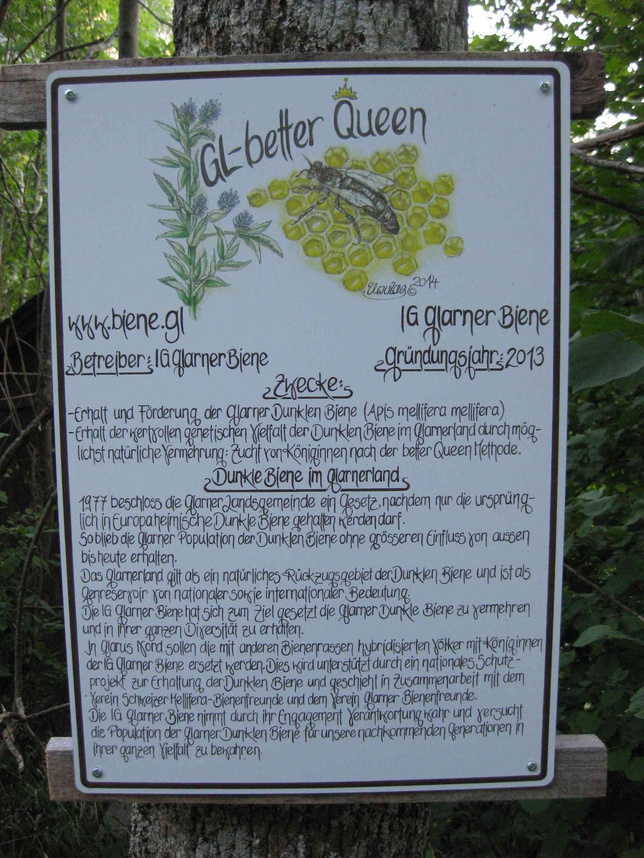 Im Schweizer Kanton Glarus dürfen nur Dunkle Bienen gehalten werden.