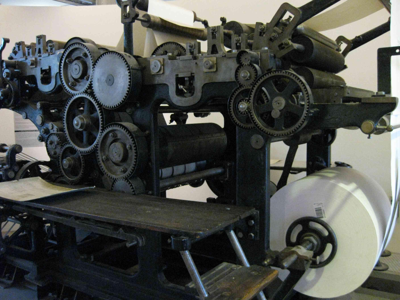 Druckmaschine im Hamburger Museum der Arbeit