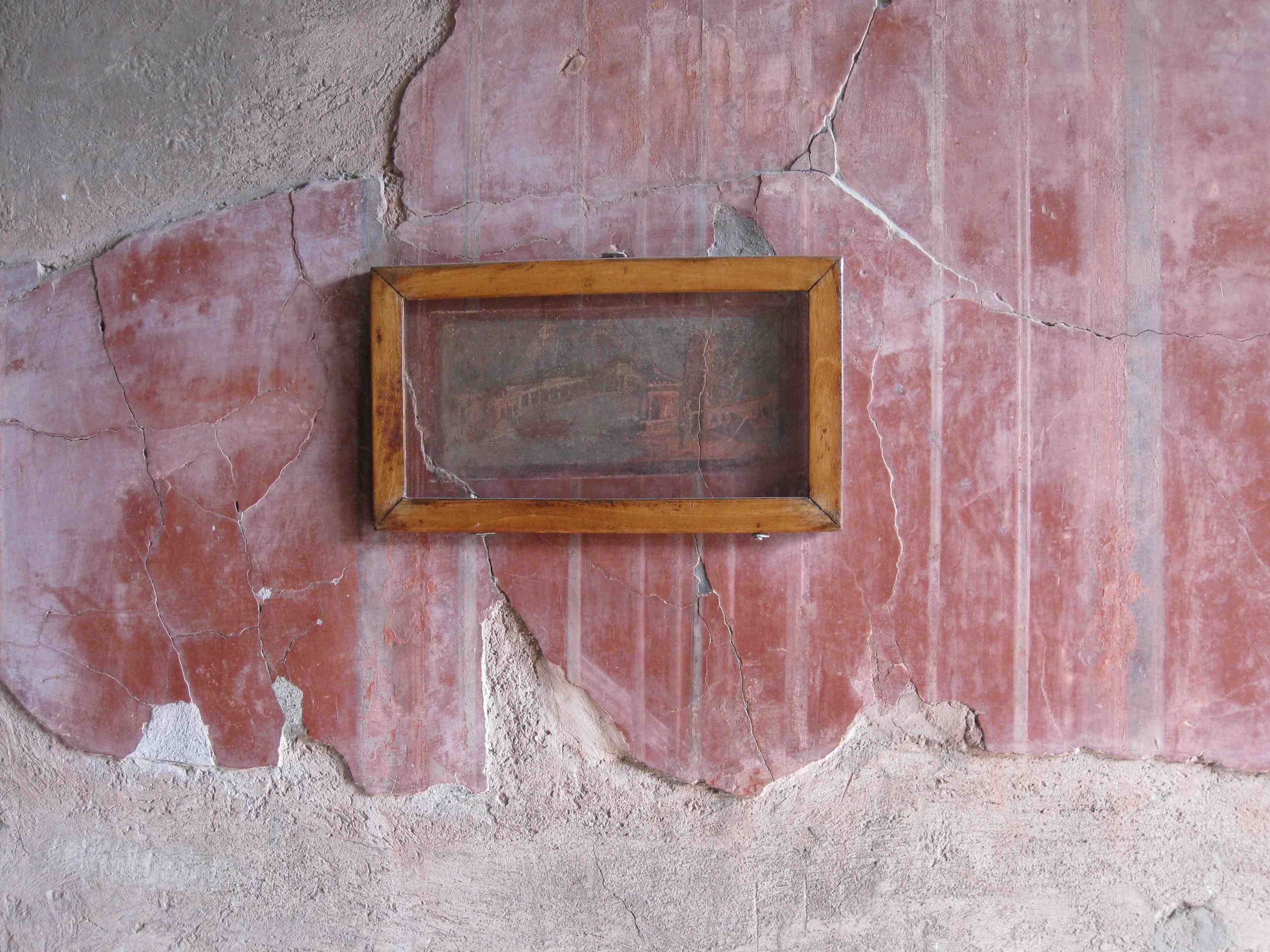Fresco in Herculaneum, Italy