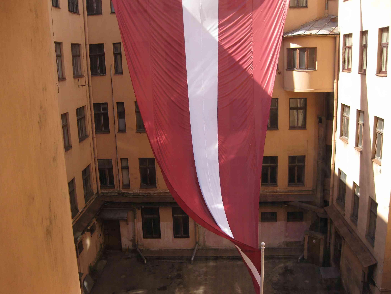 Innenhof des KGB-Hauses in Riga