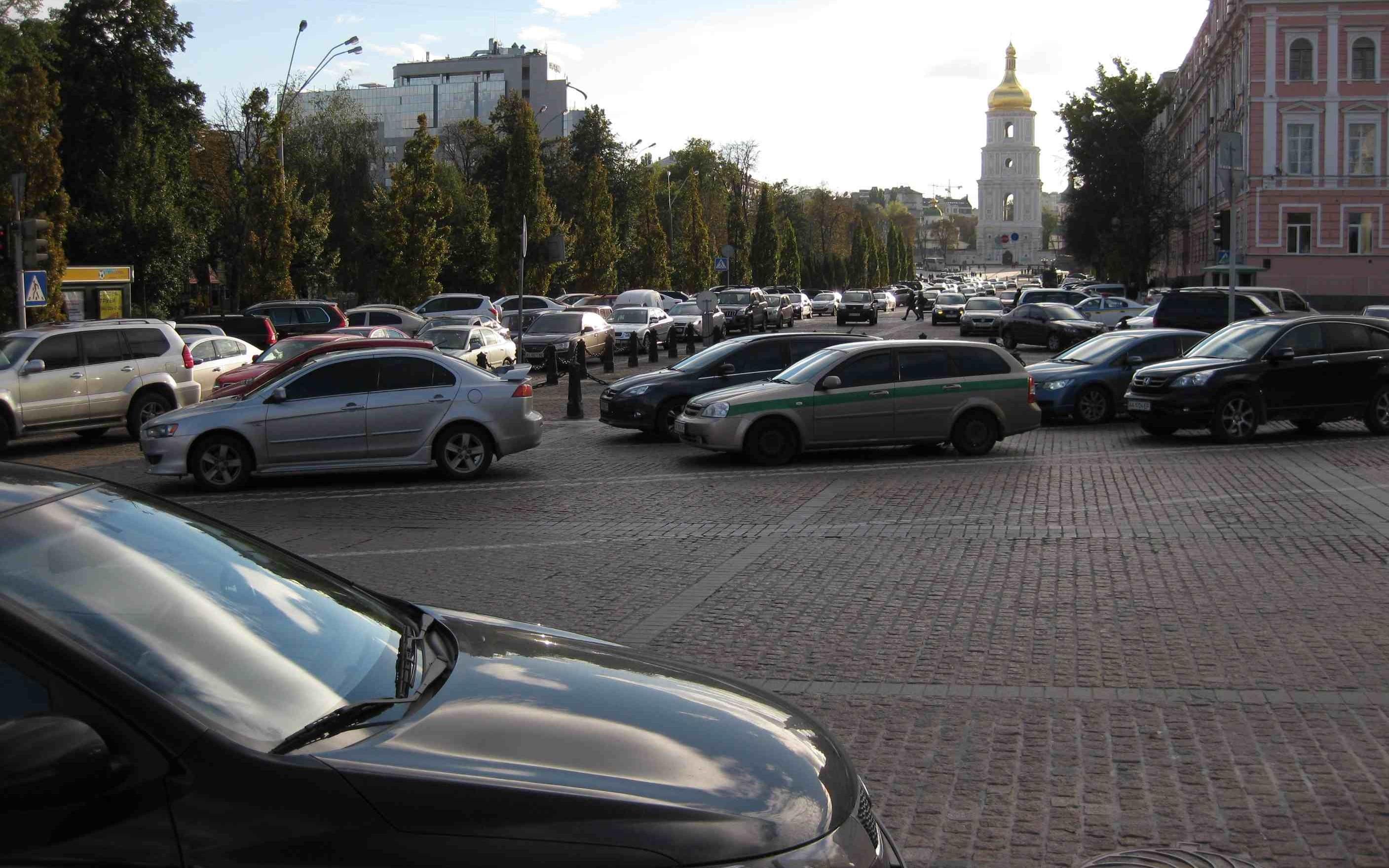 Kiev full of cars