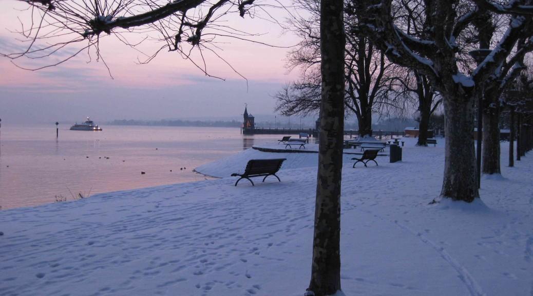 Winter im Konstanzer Hafen