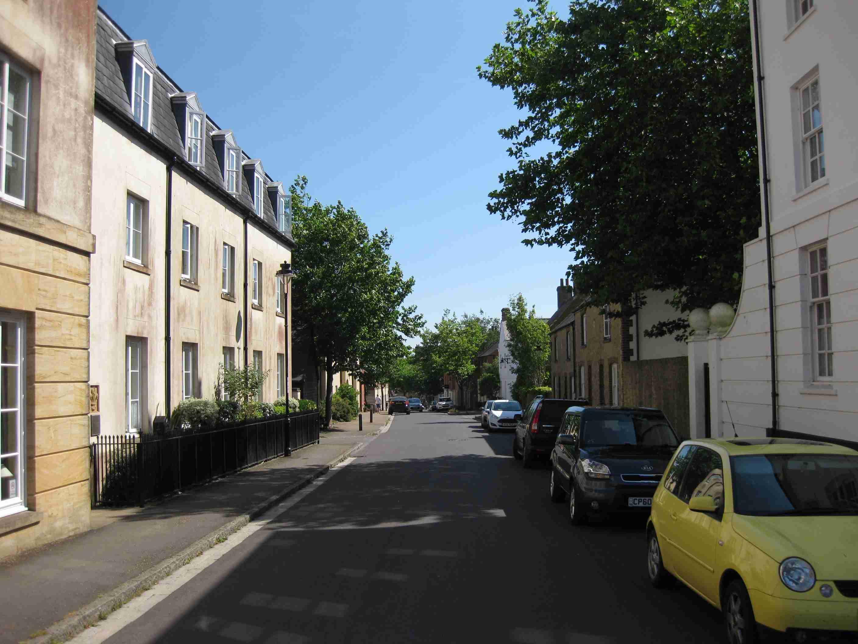 Middlemarsh Street im ältesten Teil von Poundbury