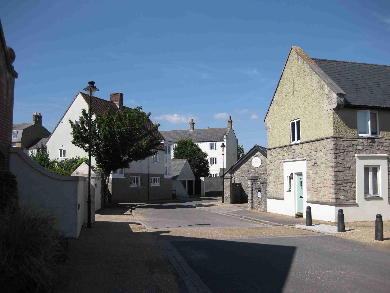 Wohnstraße in Poundbury