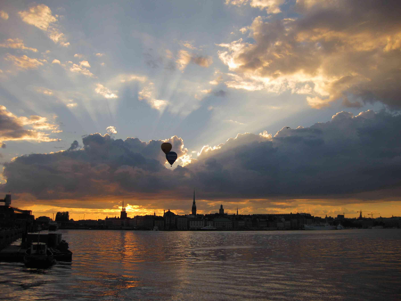 Ballone über Stockholm, Schweden