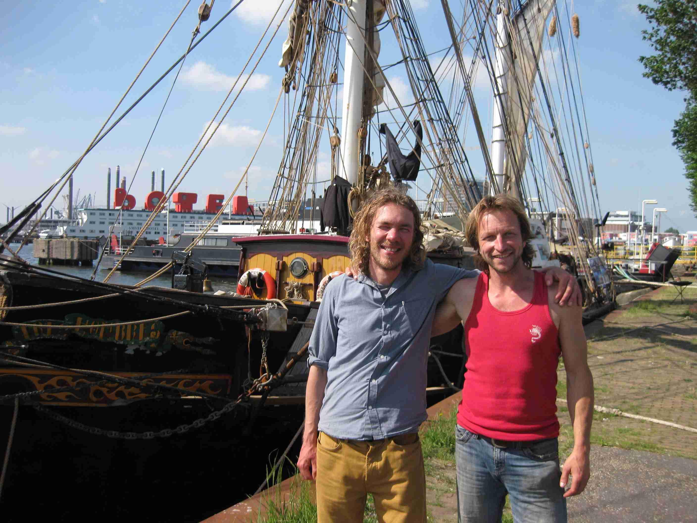 Zwei der drei Gründungskapitäne von Fairtransport: Jorne Langelaan und Andreas Lackner