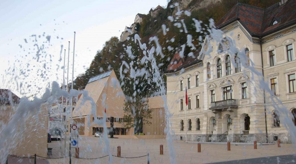Government building, parliament and castle in Vaduz, Liechtenstein