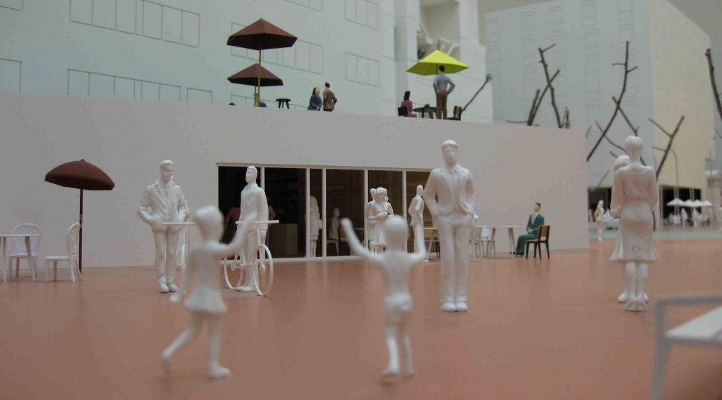 """Architekturmodell in der Ausstellung """"Together!"""" im Vitra Design Museum"""