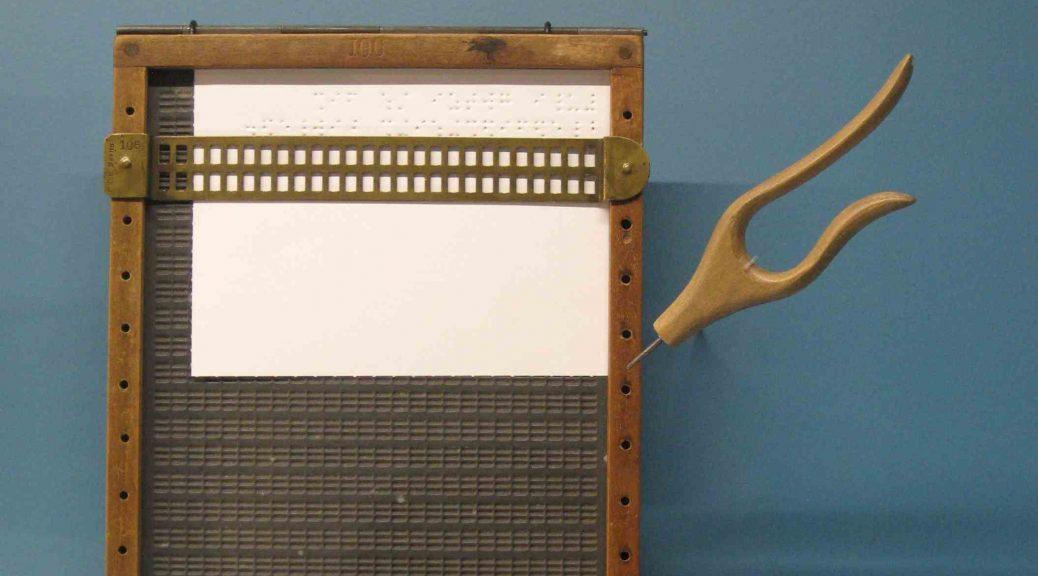 Braille-Schreibtafel mit Stichel