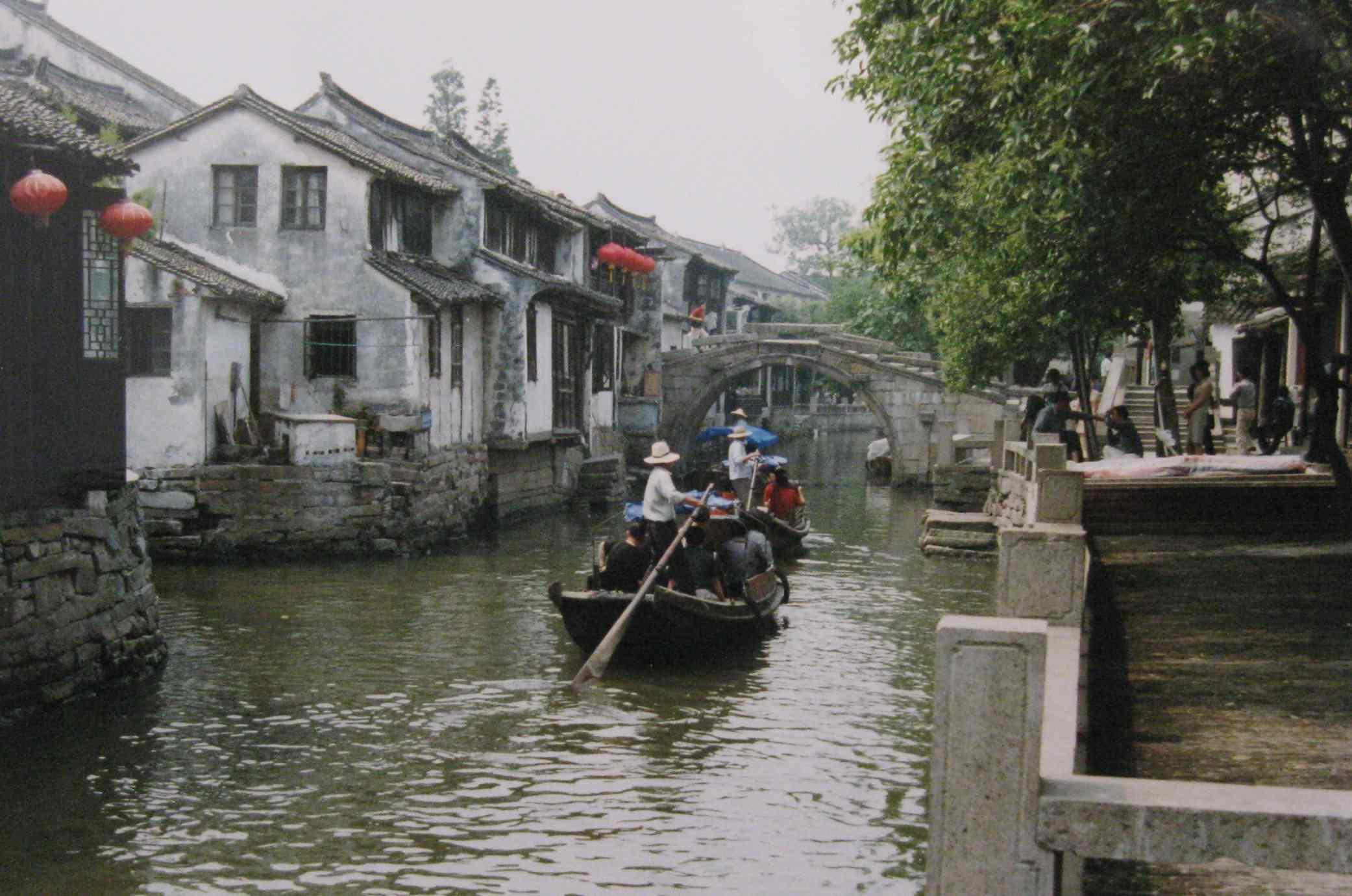 Tourist boats in Zhouzhuang
